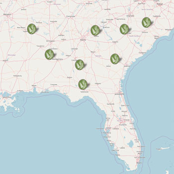 forestry nursery map